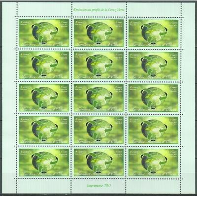 Croix Verte - Feuillet de 15 - Territoire Autonome d'Océanie
