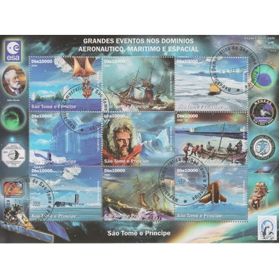 Saint Thomas - Evènements - Feuillet de 9 valeurs de 2006