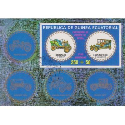 Guinée Equatoriale - Automobiles anciennes - Feuillet non dentelé