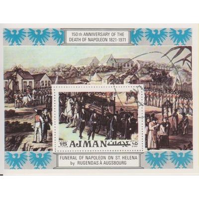Ajman - Napoléon - Feuillet oblitéré