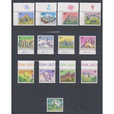 Liechtenstein - Série courante 1989/91 neufs ** - Cote €13