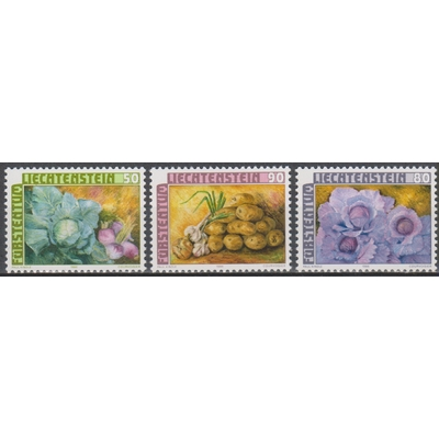 Liechtenstein - Légumes - yt.845/47 neufs ** - Cote €4.25