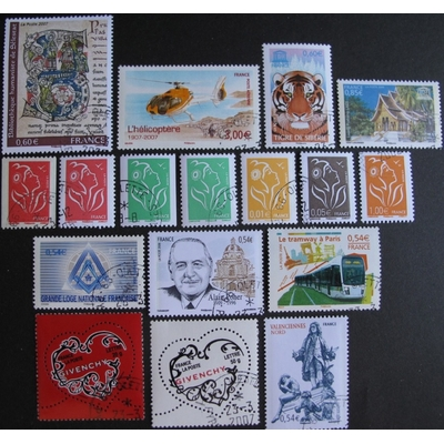 France - Collection de timbres et blocs feuillets de 2005/6/7 (4 photos) - Cote €47