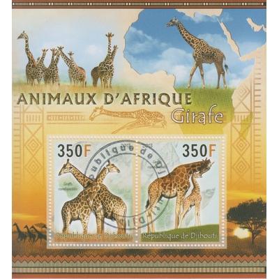 Djibouti - Animaux d'Afrique - Feuillet de 2013