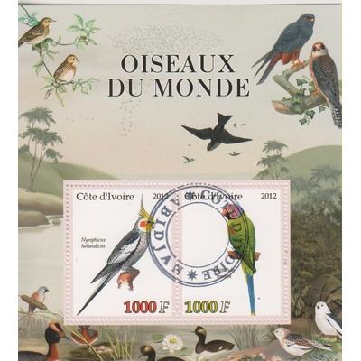 Côte d'Ivoire - Oiseaux du monde - Feuillet de 2012