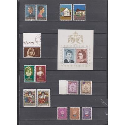 Liechtenstein - Grosse collection de timbres neufs ** (5 photos) - Cote €108