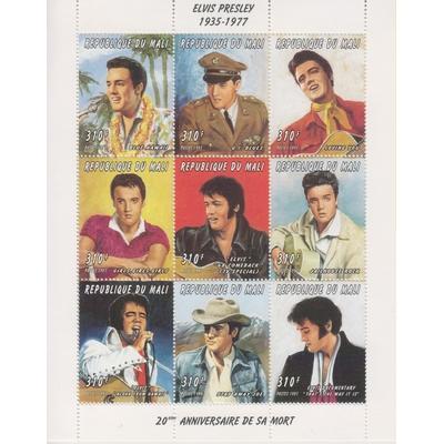 Mali - Elvis Presley - yt.948/56 neufs ** - Cote €13.50
