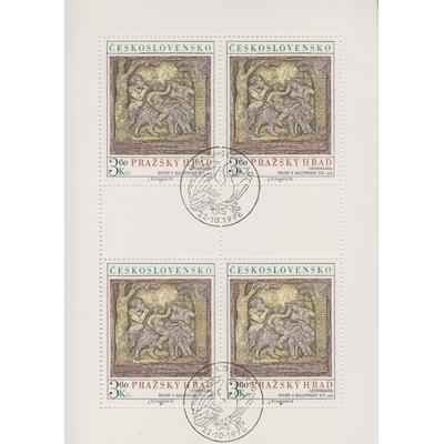 Tchecoslovaquie - Tableaux - Feuillet de 1976 - Cote €12.50