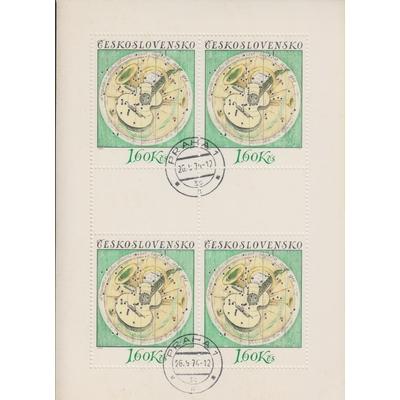 Tchecoslovaquie - Cibles - Feuillet de 1974 - Cote €12