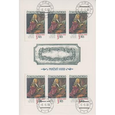 Tchecoslovaquie - Tableaux - Feuillet de 1989 - Cote €9