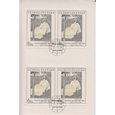 Tchecoslovaquie - Tableaux - Feuillet de 1988 - Cote €20