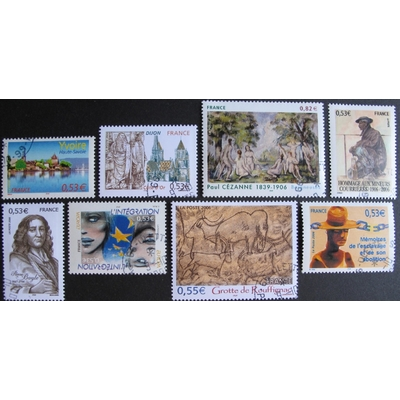 France - Collection de timbres et blocs feuillets de 2006 (4 photos) - Cote €47