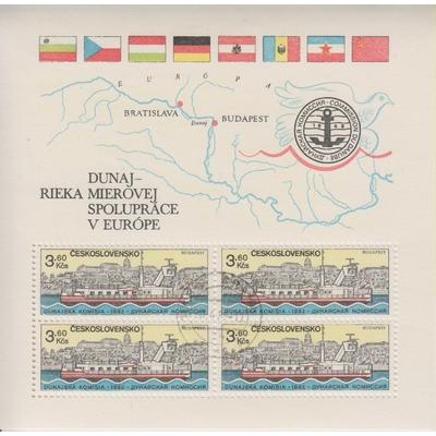 Tchecoslovaquie - Bateaux - Feuillet 58 de 1982 - Cote €12,50