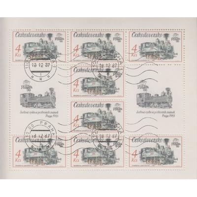 Tchecoslovaquie - Praga'88 - 5 feuillets spéciaux de 1988 (5 photos) - Cote €20