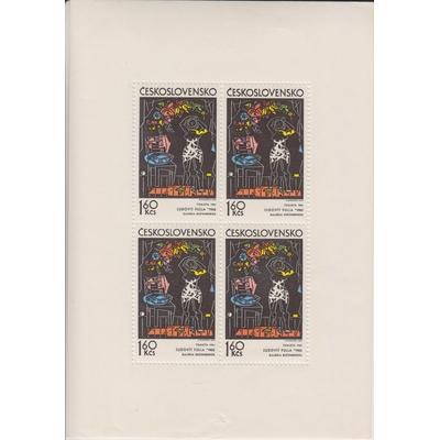 Tchecoslovaquie - Tableaux - Feuillet neuf ** de 1972 - Cote €15