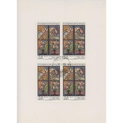 Tchecoslovaquie - Vitraux - Feuillet de 1973 - Cote €16.50