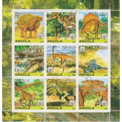 Angola - Préhistoire - Feuillet de 9 de 2002