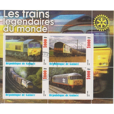 Guinée - Trains du monde - Feuillet de 2003