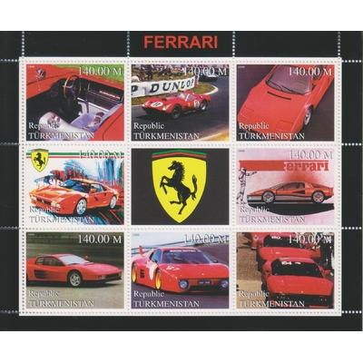 Turkménistan - Ferrari - Feuillet neuf ** de 1999