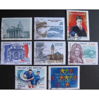 France - Collection de timbres et blocs feuillets de 2006/7 (6 photos) - Cote €39