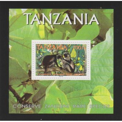 Tanzanie - Primates - Feuillet neuf ** - Cote €4