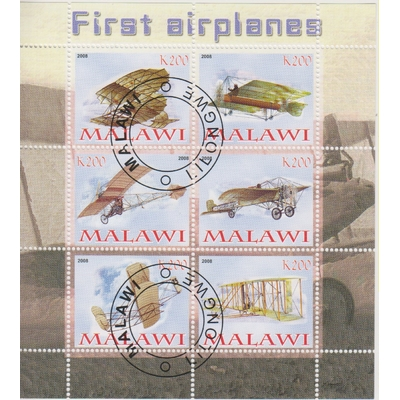 Malawi - Aviation - Feuillet de 2008