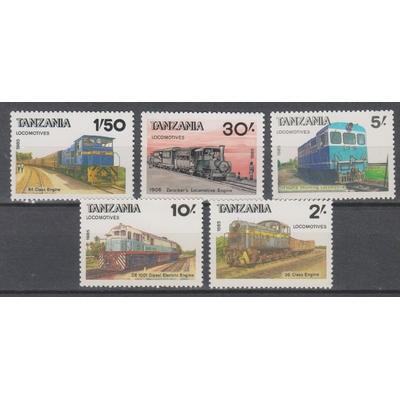 Tanzanie - Trains locaux - yt.266J/N neufs ** - Cote €8.50