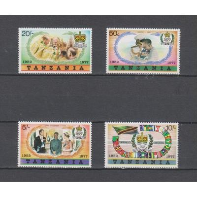 Tanzanie - Elizabeth II - yt.85/88 neufs ** - Cote €7