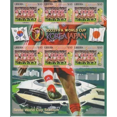 Libéria - Coupe du monde de Football - Feuillet neuf ** de 2002