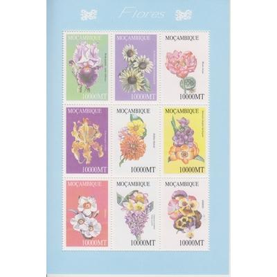 Mozambique - Fleurs - Feuillet neuf ** - Cote €18
