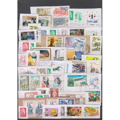France - Sélection de timbres sur fragments
