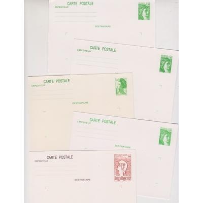 France - Collection d'entiers postaux neufs **