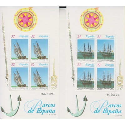 Espagne - Voiliers - yt.BF74/75 neufs ** - Cote €5.50