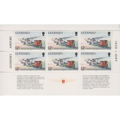 Guernesey - Aéroport - Feuillet ex-carnet neuf ** - Cote €7