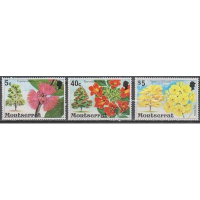 Montserrat - Fleurs - yt.344-349-354 neufs ** - Cote €6