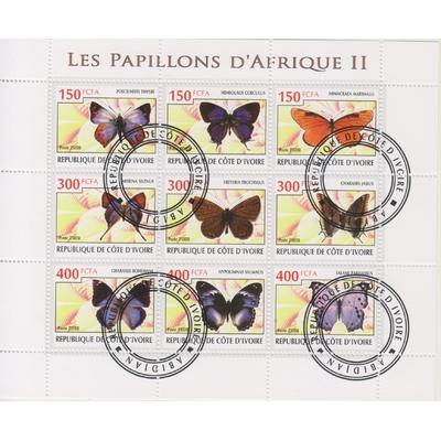 Côte d'Ivoire - Papillons - Feuillet de 2008