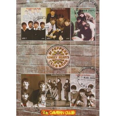Bénin - The Beatles - Feuillet de 2009