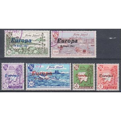 Herm Island - Europa 1961 - 6 valeurs oblitérées