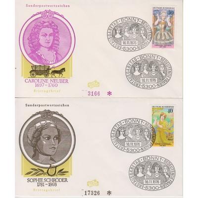 Allemagne - Série de 4 FDC de 1976 (2 photos)