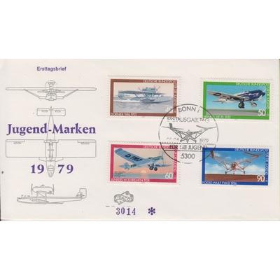 Allemagne - Aviation - FDC de 1979 - Cote €6