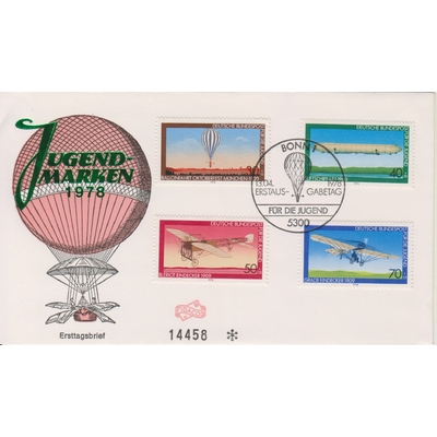 Allemagne - Mongolfières - FDC de 1978 - Cote €5