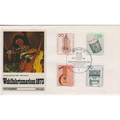Berlin - Musique - FDC de 1973 - Cote €4.50