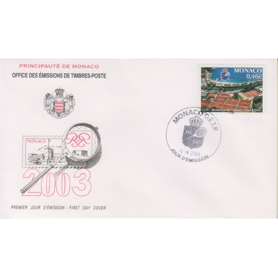 Monaco - Tennis - FDC de 2003