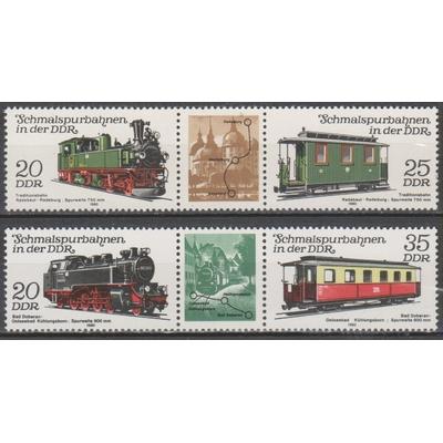 Allemagne orientale - Trains - yt.222A/23A neufs ** - Cote €5