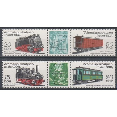 Allemagne orientale - Trains - yt.2437A/38A neufs ** - Cote €5