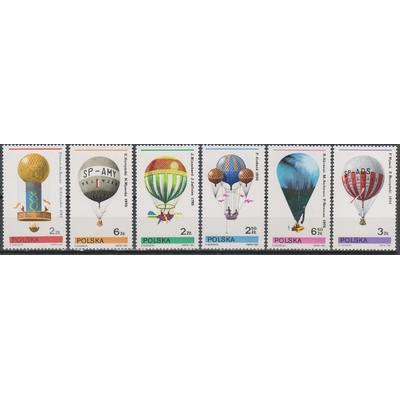 Pologne - Ballons - yt.2546/51 neufs ** - Cote €4