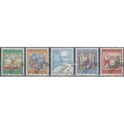 Suisse - Patrie - yt.786/90 - Cote €1,75