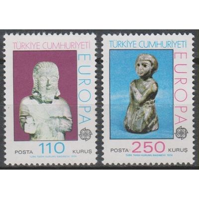 Turquie - Europa 1974 - yt.2089/90 neufs ** - Cote €7