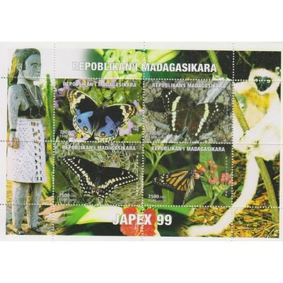 Madagascar - Papillons - Feuillet de 1999