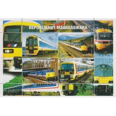 Madagascar - Trains - Feuillet de 1999